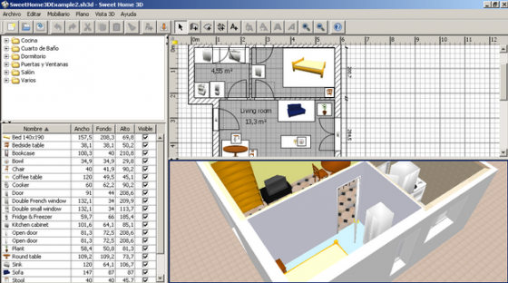 Software planos de casas for Programa de decoracion de interiores gratis